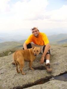 On a mountain with my dog