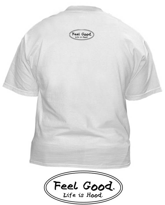 Hood White shirt back