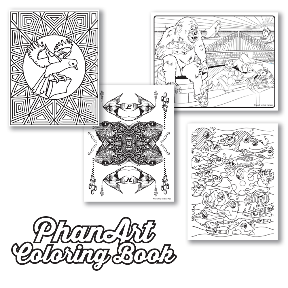 the phanart coloring book phanart music art community
