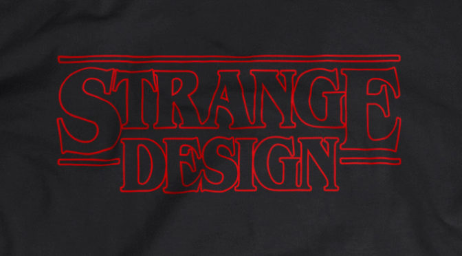New Stranger Things/Strange Design Shirt From Jiggslot
